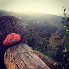 """love"" rock along Mulholland Drive in LA, follow on Instagram if you might want to find one for yourself...  #xoxonono"