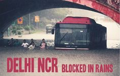 The High Level of Rains caused inconvenience for the people on the road in Delhi NCR #Rain #Road #Blocked #Delhi #NCR #Water #Gurgaon #Gurugram #Uthestory