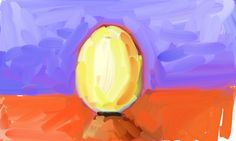 Painted with finger in ArtRage. Perfect App for digital Painting. #ei #egg - ArtRage 9. April 2010