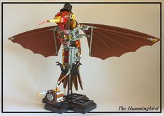 #LEGO #Steampunk The Hummingbird.  Check out the hat and monocle.  I love this build!!