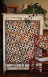 quilt pattern - pinwheel and sixteen patch blocks