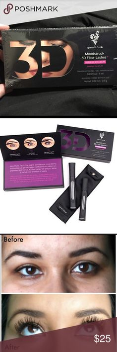 Moodstruck 3D Fiber Lashes + This Younique mascara is AMAZING! This stuff will make your lashes POP! Bigger and better than ever!😍 so much VOLUME! BRAND NEW IN BOX, NEVER OPENED. Younique Makeup Mascara