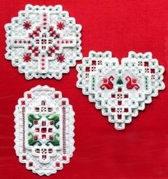 Hardanger Ornament Club - I'm working on getting these made but something else always comes up and these get put aside!