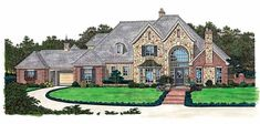 Eplans French Country House Plan - Absolutely Grand Entrance - 4674 Square Feet and 5 Bedrooms(s) from Eplans - House Plan Code HWEPL02411