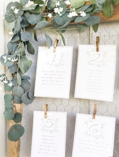 Rustic wire clipped wedding escort card display with cascading eucalyptus: www.s… Rustic wire clipped wedding escort card display with cascading eucalyptus: www. Wedding Table Seating, Wedding Table Names, Wedding Signs, Wedding Cards, Wedding Ideas, Wedding Venues, Card Table Wedding, Wedding Ceremony, Wedding Signing Table