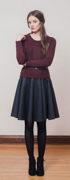 betina lou fall 2014 - belted sweater