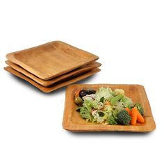 Root Wood Square Plate