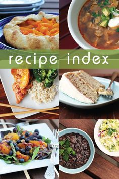 Recipe Index - This Week for Dinner