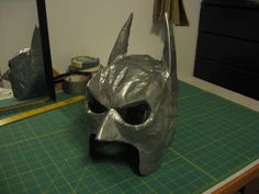 Duct Tape Batman mask DIY