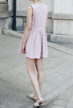 Baby pink dress More Summer Dresses, Pastel, Baby Pink Dresses, Photo Photo Summer dress Shirt dress for summer in a pastel with pockets and pleats!