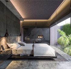 [New] The 10 All-Time Best Home Decor (Right Now) - Ideas by Mary Weeks - Dark tone Bedroom ; This master bedroom design was completed by Serbian designer Branko Matic to create a luxury and personality space with dark grey tone Interior Design Inspiration, Home Interior Design, Interior Architecture, Design Ideas, Interior Doors, Luxury Interior, Interior Paint, Modern Interior, Modern Bedroom Decor