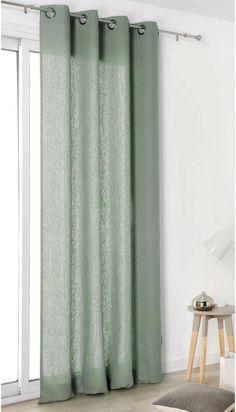 Rideau tamisant, lin, Linda vert d'eau x cm LINDER Decor, House Design, Sweet Home, Rideau, Curtains, Vert, Home Decor, Deco