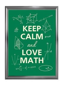 Keep calm and love math by Agadart on Etsy, $12.00