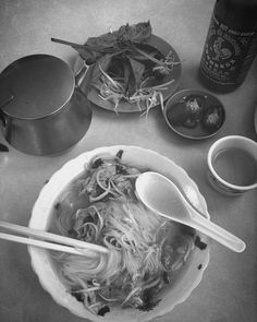 One of the best parts about living in a city is that when you catch that cold that's going around you can hop off the bus on the way home and get the best sick person food: #pho. #blackandwhite #selfcare #comfortfood #IdidntknowIlikedit #sogladIdonow #liveadventurously by mckenzi.jo