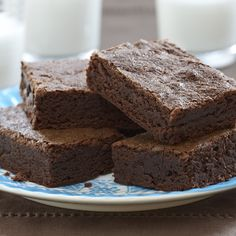 Cinnamon-Brownies; This fudgy chewy brownie is the perfect balance of rich chocolate flavor with warm cinnamon spice.