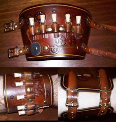 Steampunked Out by Witch Works -- Wide Wrist Cuff --
