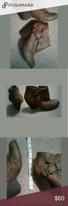 Blowfish ankle boots, size 8 Adorable wedge boots, size 8, hardly worn, approximately 3.5 inch heel Blowfish Shoes Ankle Boots & Booties
