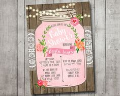 Hey, I found this really awesome Etsy listing at https://www.etsy.com/listing/261684004/girl-baby-shower-invitation-rustic