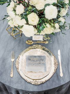 Channeling old world charm right in the heart of Hollywood this elegant and romantic wedding inspiration by LARA LAM features luscious ivory blooms by KAREN'S GARDEN, a stunning WEDDING INVITATION DESIGN BY LETTERS TO YOU and the prettiest of WEDDING CAKE