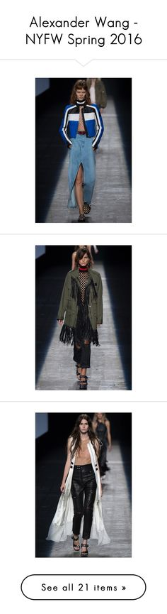 """""""Alexander Wang - NYFW Spring 2016"""" by polyvore-editorial ❤ liked on Polyvore featuring AlexanderWang and PolyvoreNYFW"""