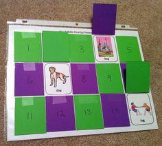 """Speech Card Set Activity: """"What's hiding behind door number...?""""  Great for artic practice!"""