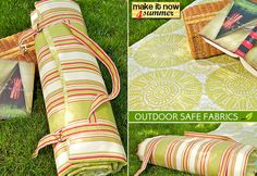 Make it Now 4 Summer: Outdoor Roll-n-Go Cushion | Sew4Home