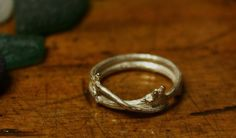 Entwined Silver Twig Ring