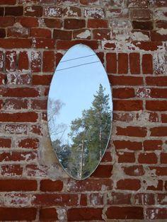 Mirror Mid Century Modern Large vintage oval от OldMoscowVintage