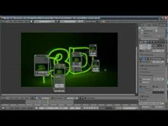▶ Blender Tutorial: Neon Sign Text Flicker - YouTube this is very cool, shows some good basics, AND tracing things with bezier curves is excellent path/pen practise.. just sayin
