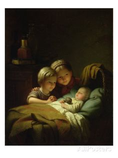 The Three Sisters Giclee Print by Johann Georg Meyer von Bremen at AllPosters.com