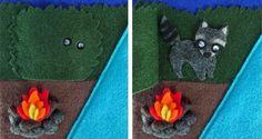 Activity Book: Camping Fun, detail - racoon
