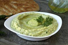 zucchini hummus | Taste of Beirut (zucchini in place of chickpeas)