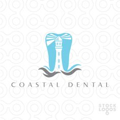Logo Sold: modern dental logo that combines a tooth and lighthouse together.
