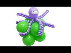 Осьминог из воздушных шаров - YouTube