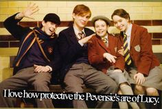 I love how protective the Pevensie's are to Lucy. I think it's just so cute!