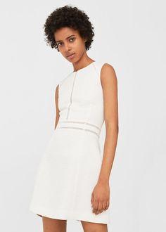 Open-work trim dress -  Women | MANGO USA