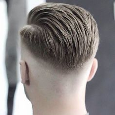 A tight fade with a built in partline - - Like it or not it's a trend and maybe for the Typical lazy guy who couldn't be bothered trying to make sure his hair is looking ok, just shave the edges plus a line and comb the one pie…. Mens Hairstyles Pompadour, Pompadour Fade, Undercut Hairstyles, Skin Fade Hairstyle, Fade Haircut, Cool Haircuts, Haircuts For Men, Hair And Beard Styles, Short Hair Styles