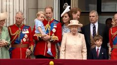 The Royal on the balcony. Trooping the Colour 2015