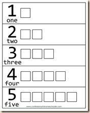 Resultado de imagen de numbers 1 to 5