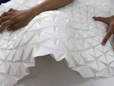 "The house that SHAPESHIFTS is: designers create ""origami"" model making, . - The house that SHAPESHIFTS is: designers create ""origami"" model making, … - Folding Architecture, Parametric Architecture, Parametric Design, Concept Architecture, Architecture Design, Origami Design, Origami Ball, Origami Fashion, Conception Paramétrique"