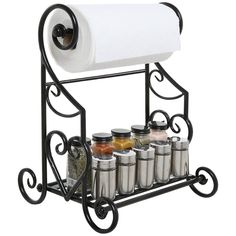 Freestanding Black Metal Kitchen & Bathroom Paper Towel Holder Stand / Counter for sale online Bathroom Paper Towel Holder, Paper Towel Storage, Paper Towels, Towel Holder Stand, Freestanding Kitchen, Iron Furniture, Paper Furniture, Furniture Storage, Iron Decor