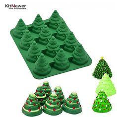 Xmas DIY 3d silicone mold Many patterns Christmas tree Umbrella box gift Santa Claus Sleigh Giraffe shape cake tools mold N1833 #Affiliate