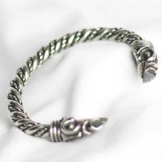 Handmade in Scotland. Asgard Odin's raven bracelet.