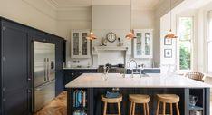 The Crystal Palace Kitchen - deVOL Kitchens Cobalt + Gold- Devol Kitchens, Shaker Style Kitchens, Shaker Kitchen, Kitchen Units, Kitchen Cupboards, Kitchen Reno, New Kitchen, Kitchen Ideas, Kitchen Inspiration