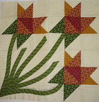 The Clothesline Quilter - Iowa Lily block in Quiltmaker 100 magazine