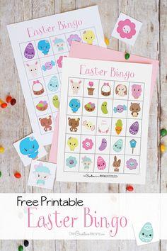A legaranyosabb húsvéti Bingo játék! 10 ingyenes nyomtatható játéktábla {} OneCreativeMommy.com Húsvéti programok gyerekeknek