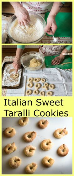 Italian sweet taralli cookies with wine.