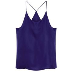 Yoins Purple Cami Top-Purple  One Size ($14) ❤ liked on Polyvore featuring tops, tank tops, camisoles & tank tops, purple, racerback tank, blue top, racerback cami, racerback tank tops y blue tank top