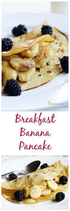 Banana Pancake, breakfast for the champion. So easy to make and yet so yummy and nutritious | rasamalaysia.com