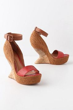 Wedge heels with quite an interesting shape.